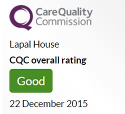 Dudley News: Lapal House CQC Rated Good