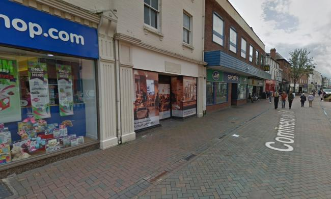 A plannung application has been submitted to turn the unit at 46 Commercial Street, Hereford, into a Cashino.