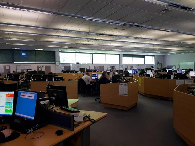 CALLS: Inside the West Mercia OCC control room, where call handlers deal with 999 and 101 calls