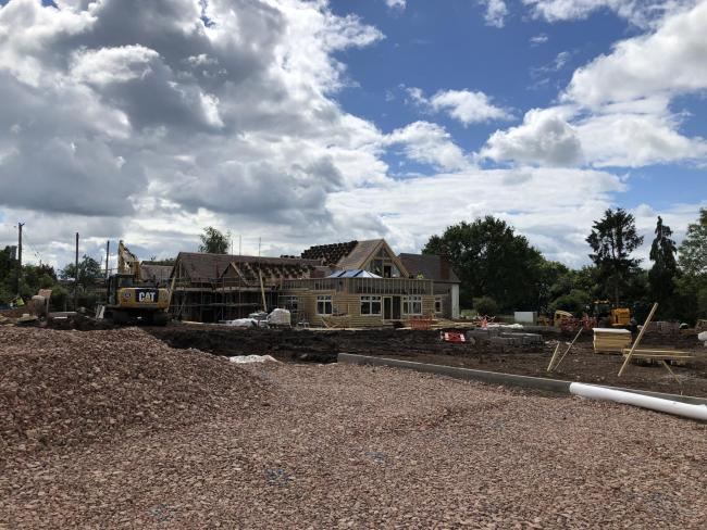 WORK: The Plough and Harrow in Guarlford is close to completion
