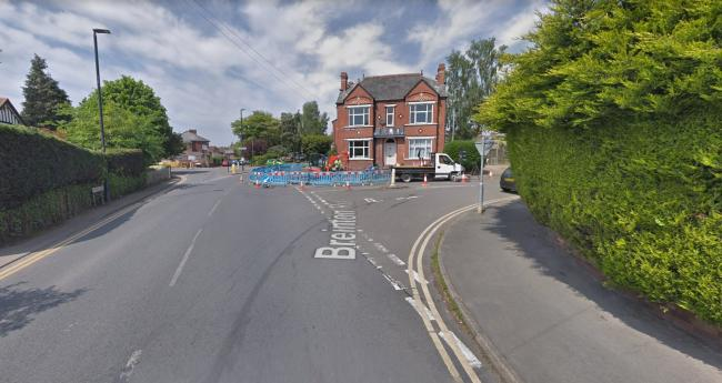 Breiton Road in Hereford is currently blocked after a crash. Photo: Google