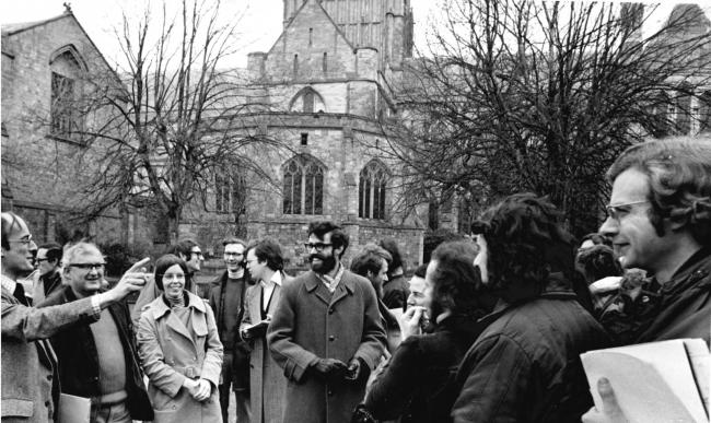 TODAY'S picture from the archive of the Worcester News dates back to April 1975, when the British Archaeological Association conference came to the city. The delegates are pictured in the appropriate setting of Cathedral Close with one of the organise
