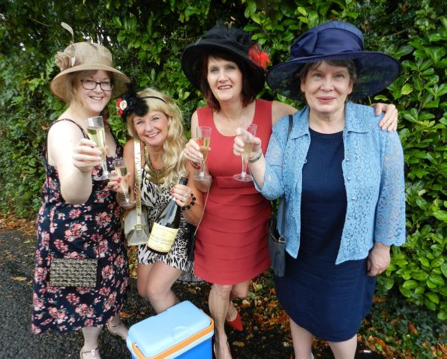 Becky Pickin as Linda; Julie Bywater as Shelley; Debra Attwood as Jan and Jane Fisher as Pearl in Ladies' Day