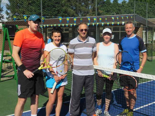 Mixed Final: Adam James, Katy Waterhouse, Mike White (Umpire), Bec Yates and Shaun Ryder