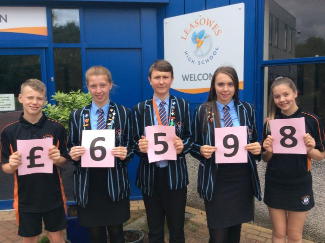 Pictured Left to Right: Max York, head girl Emma Bolton, head boy Krzysztof Stasiask, deputy head girl Abbie Bennett-Jones and Erin Burrows.