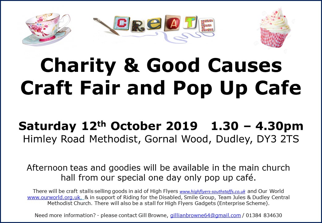 Create Group Charity Craft Fair and Pop Up Cafe