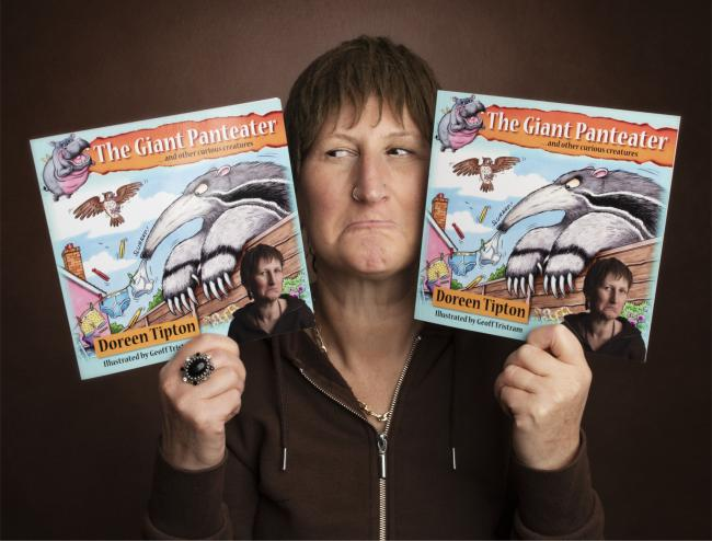 Doreen with her new children's book