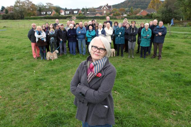 Residents in Ross-on-Wye fear the extra traffic that would come from a proposed housing estate will pose a danger to pedestrians.