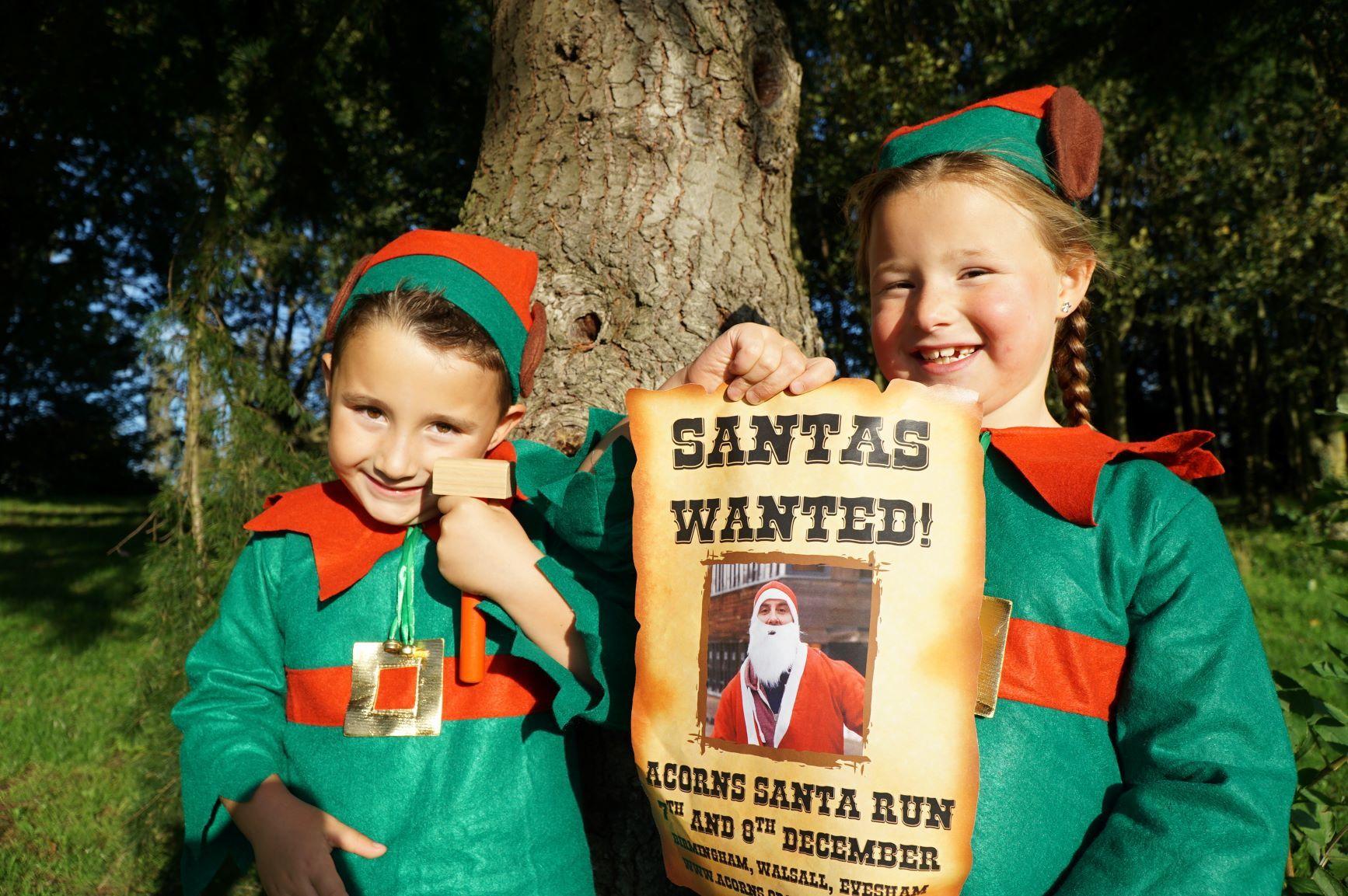 Acorns Santa Run in Evesham open for entries - Dudley News