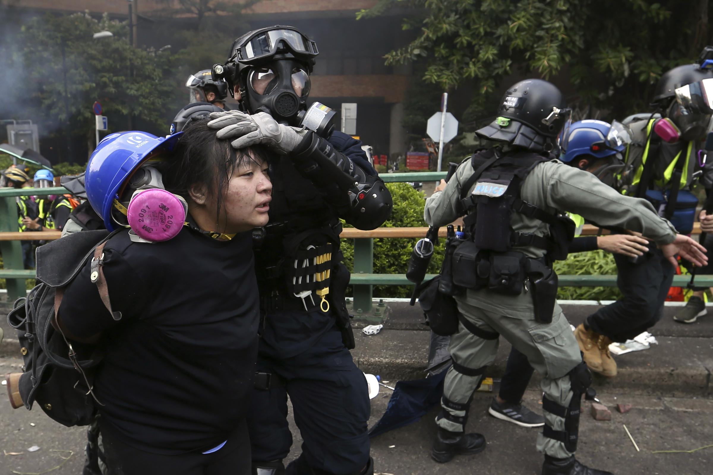 100 protesters surrounded by police at Hong Kong university - Dudley News