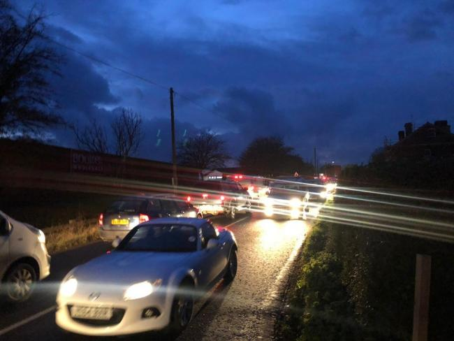 Traffic chaos on Roman Road tonight between Aylestone Hill and the Starting Gate roundabout