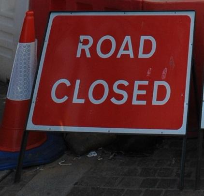 Priory Street is closed while repair works are carried out.