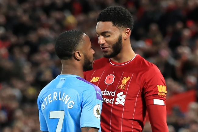 Joe Gomez, right, and Raheem Sterling have put the incident behind them