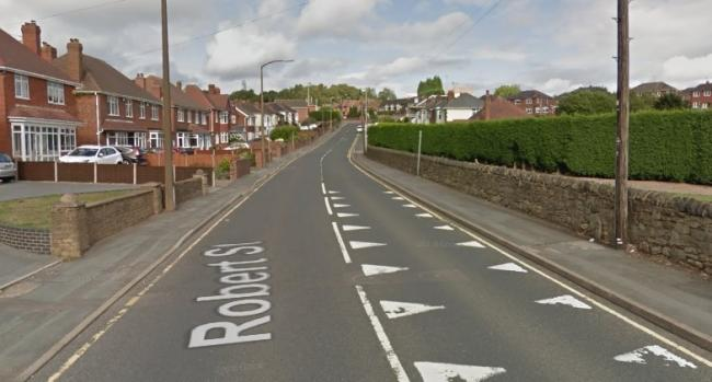 The crash took place on Robert Street in Lower Gornal. Image: Google Maps.