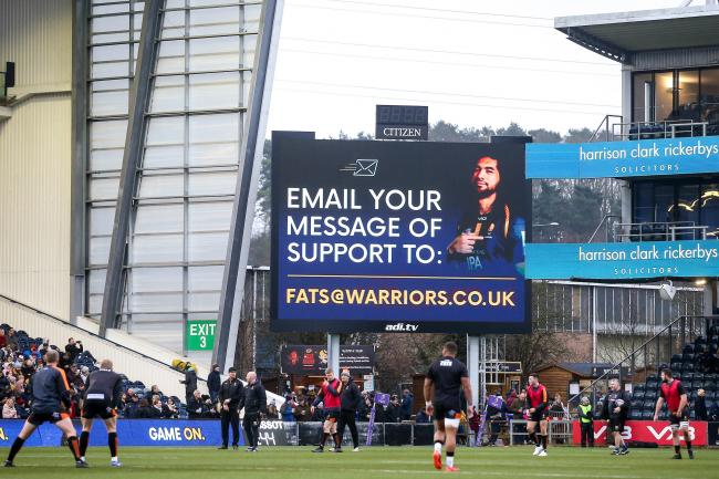 MESSAGES: Fans are being encouraged to support injured Warriors ace Michael Fatialofa. PIC: Robbie Stephenson/JMP