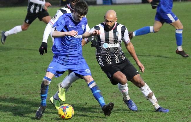 Action from Halesowen Town's 2-2 FA Trophy draw with Maidenhead on Saturday. Picture by Steve Evans