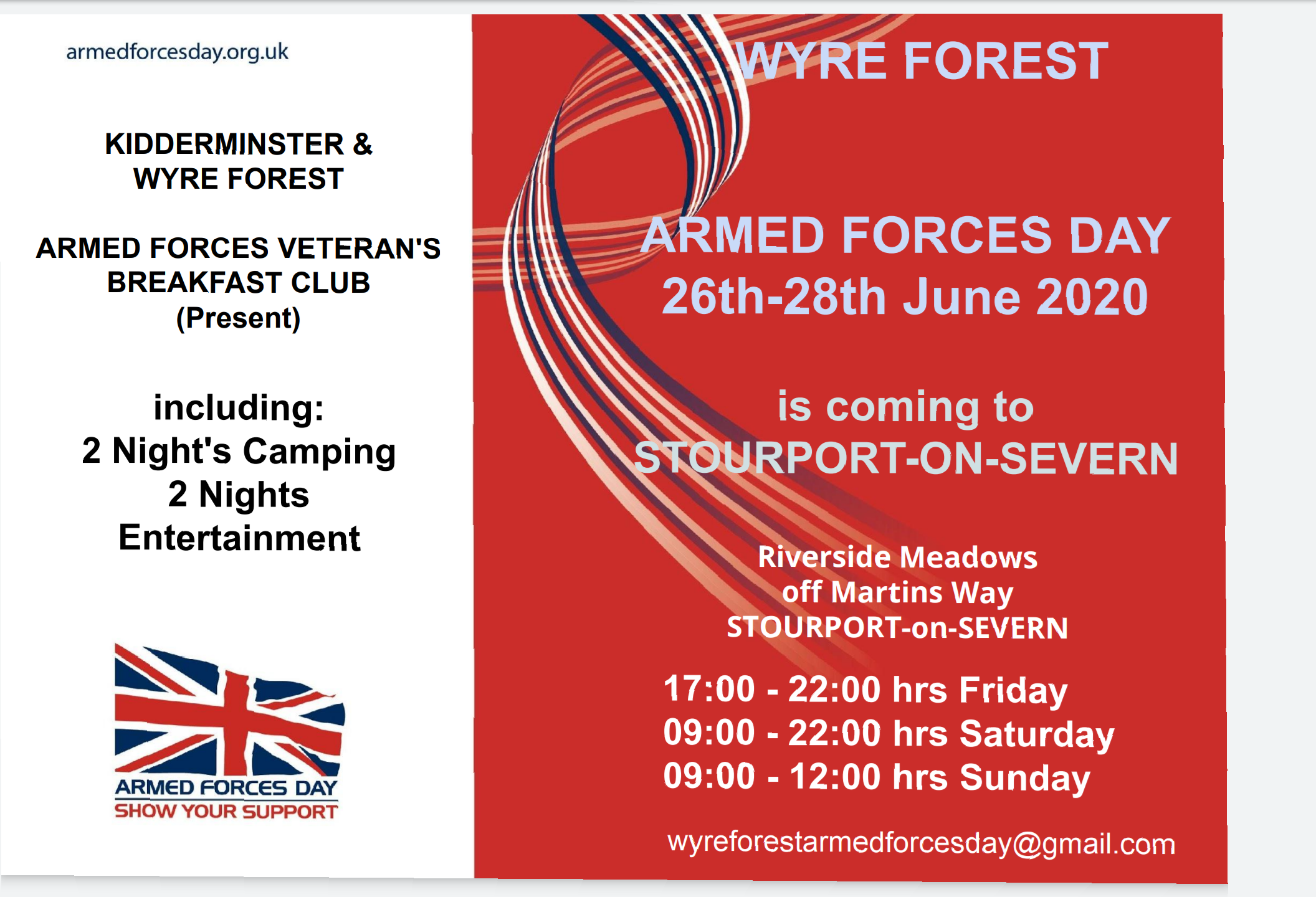 Wyre Forest Armed Forces Day 2020