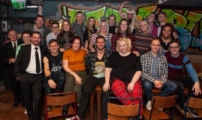 The cast of Rent - performed by Unity Productions at Stourbridge Town Hall