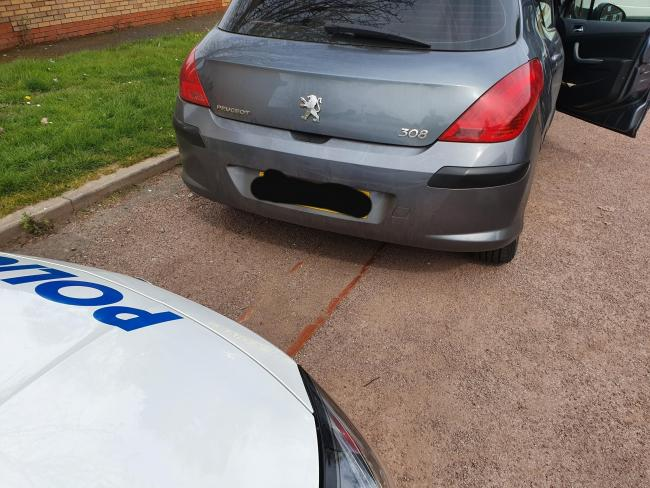 Police tracked the car down after spotting it on Duncan Edwards Way in Dudley. Photo: West Midlands Police.
