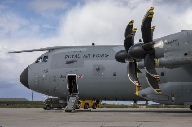 Dudley News: This is an Airbus A400M Atlas, the type of airfact seen over Glasgow in recent weeks (Image: RAF)