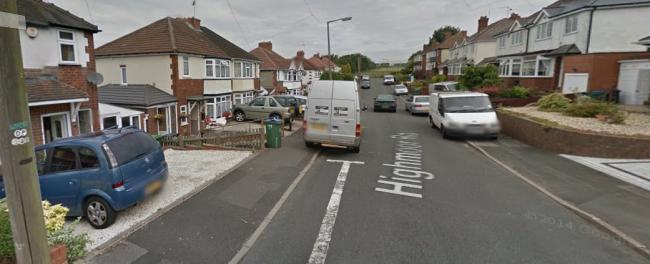 A car was stolen from Highmoor Road in Rowley Regis. Pic: Google