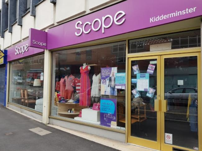 Disability charity Scope has closed its Kidderminster shop. Photo from Google
