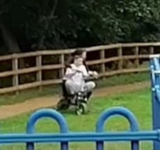 Police are looking to speak to these two males as part of an investigation into off-road bikes in Springfield Park in Kidderminster. Photo by @KminsterCops