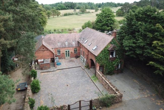 Ling Farm, located directly opposite West Midland Safari Park, has gone up for sale. Photo from Nest Esates