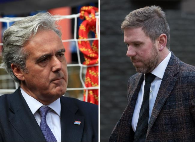 Wyre Forest MP Mark Garnier (left) says John Broadhurst (right) could be freed after less than two years in prison. Photo by PA
