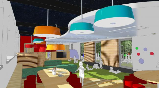 An artist's impression of the refurbished kindergarten at Winterfold School
