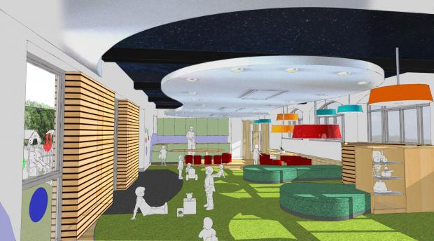 Dudley News: An artist's impression of the refurbished kindergarten at Winterfold School