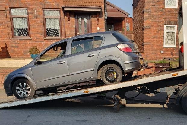 The car that was seized. Pic - West Midlands Police