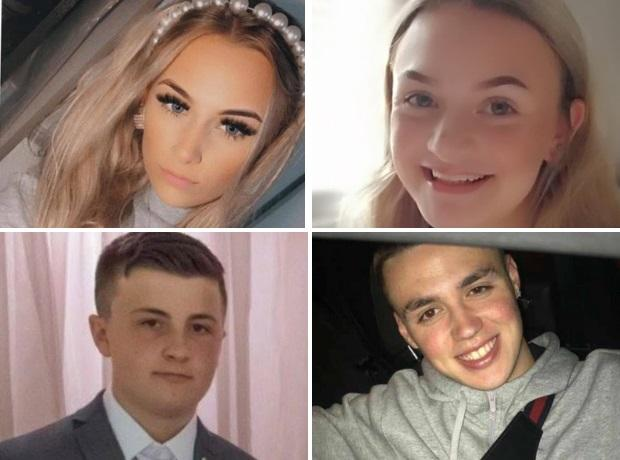Lucy Tibbetts, left, and Izzie Floyd, right, Josh Parkes, bottom left, and Nathan Carwright, bottom right. Pics - West Midlands Police