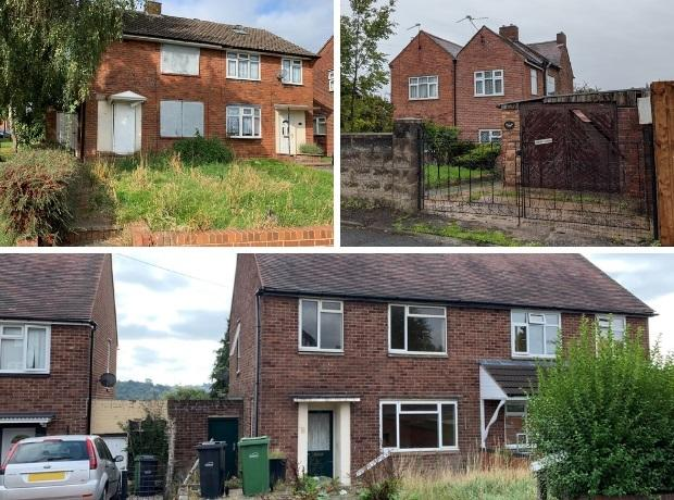 These homes in Brierley Hill are going under the hammer at the next BWA auction on October 28. Pics courtesy of BWA