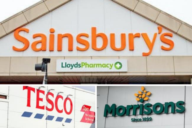 Sainsbury's, Tesco and Morrisons offer moving gesture. Picture: PA/Canva