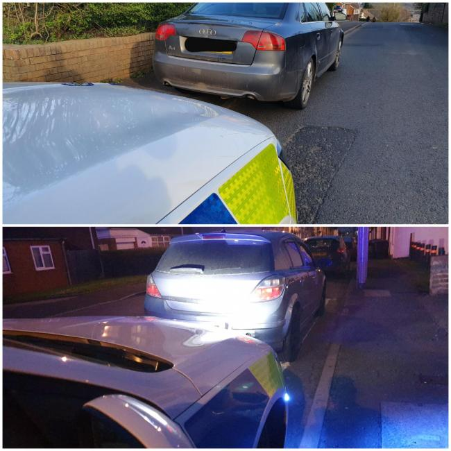 Top picture: first vechicle seized in Dudley. Bottom picture: second vechicle seized. Credit: Brierley Hill police