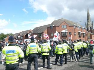 LIVE UPDATE - Trouble flares at EDL rally