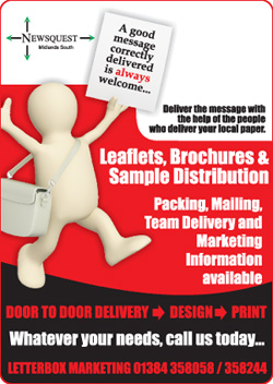 Dudley News: leaflet distibution promotion