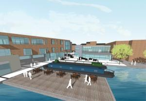 Hidden jewel: An artist's impression of James Brindley Wharf.