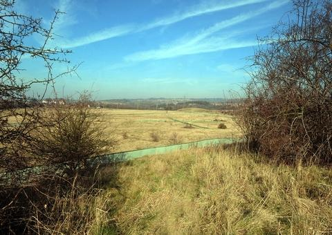 The greenbelt site which is soon set to be transformed with a housing development.