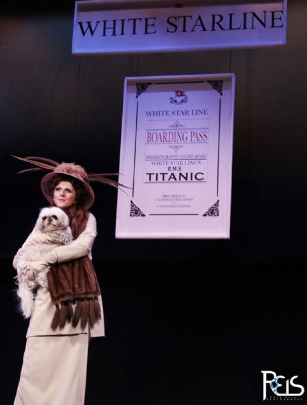 Charlotte, the Pekingese-Shih Tzu, starring in WBOS's production of Titanic - The Musical.