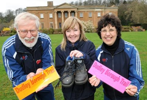 Dawn Smith, Assistant Events officer, with Rita and Robert Bridge.