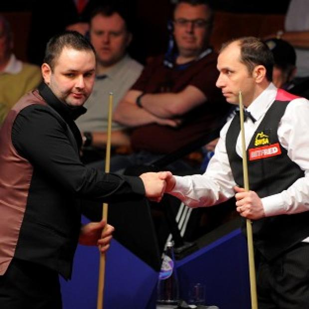 Stephen Maguire (left) and Joe Perry