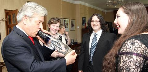 John Bercow entertaining young guests. Buy photo: 231218J