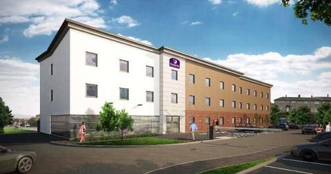 Artist impression of the proposed new Premier Inn Hotel for Castlegate