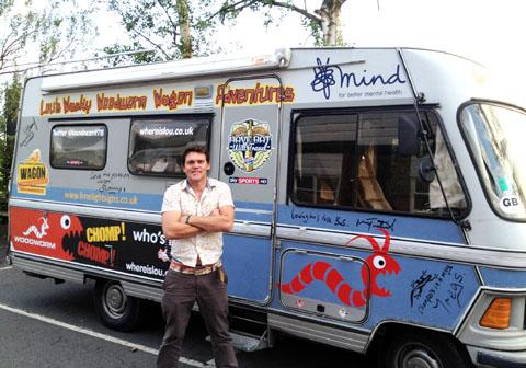 MAN WITH A VAN: Former Worcestershire batsman Lou Vincent is travelling the country in his camper.