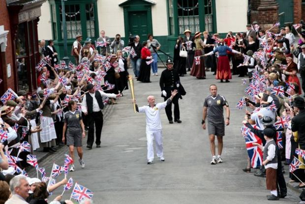 Olympic torch arrives at the Black Country Living Museum - pic by Aaron Manning