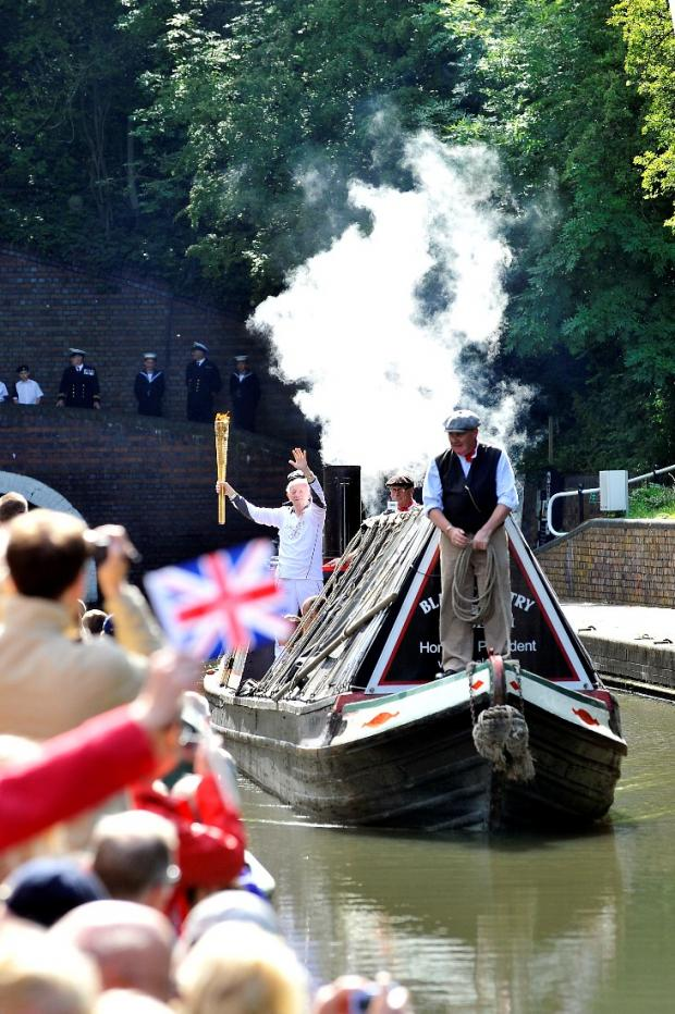 Dennis Sanders brings the torch to the Black Country Living Museum onboard President