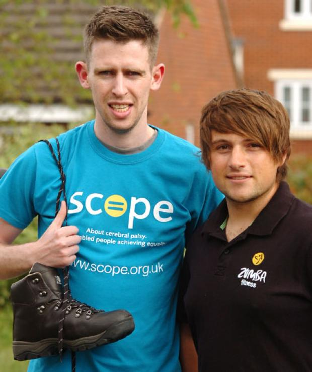 Shaun Hemmings and Zumba instructor Bernard Moseley. Buy photo: 331227L