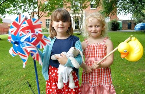 Left to right - Grace Hall (aged five) and Hannah Shaw (aged four). Buy photo: 341241M